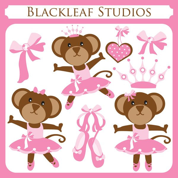Ballerina Monkey  Blackleaf Design    Mygrafico