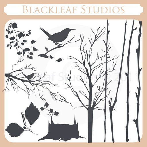 Birch Tree Silhouettes  Blackleaf Design    Mygrafico