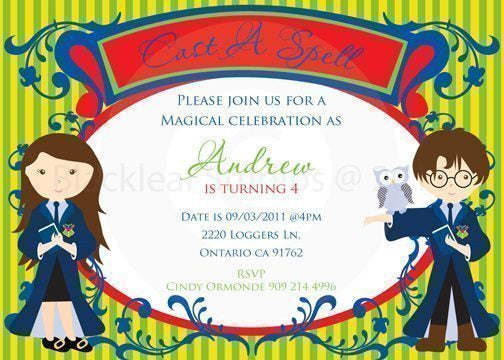 Cast A Spell Invitations  Blackleaf Design    Mygrafico