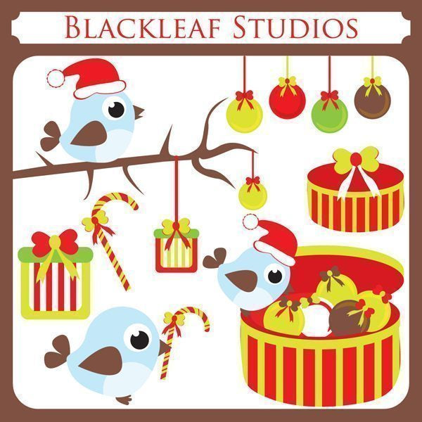 Christmas Birds  Blackleaf Design    Mygrafico