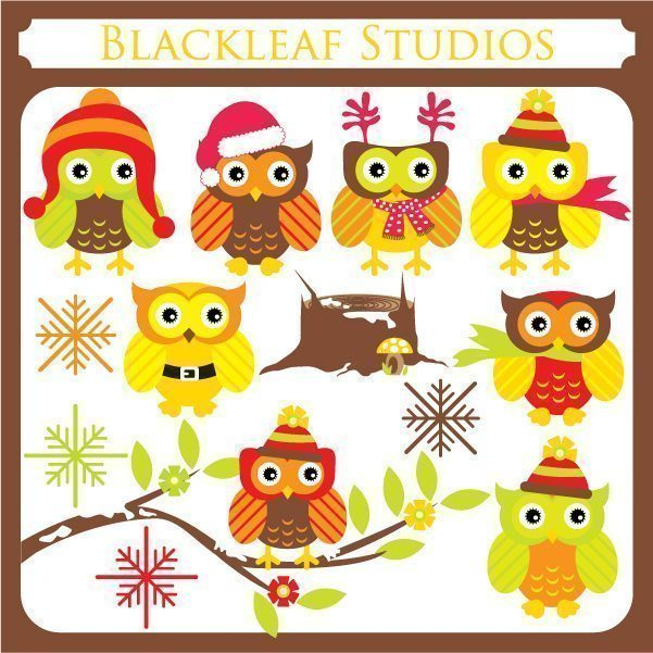 Christmas Owls  Blackleaf Design    Mygrafico