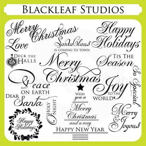 Christmas Calligraphic Words  Blackleaf Design    Mygrafico