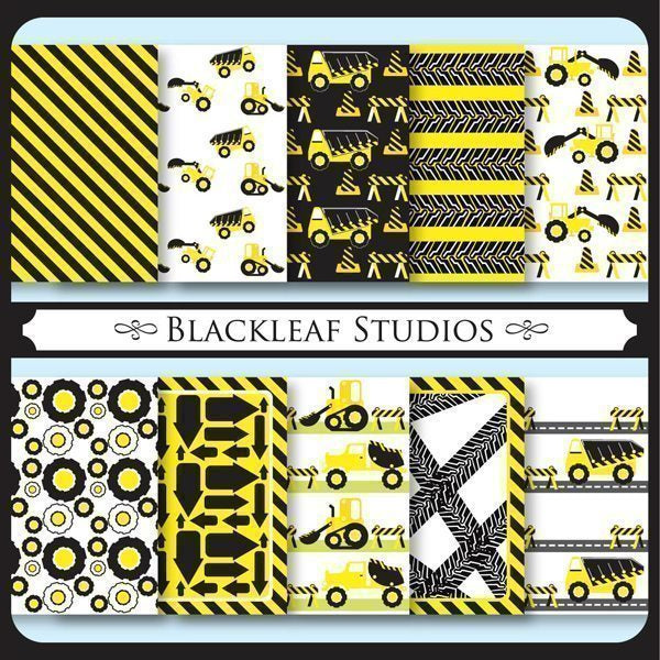 Construction Site Papers  Blackleaf Design    Mygrafico