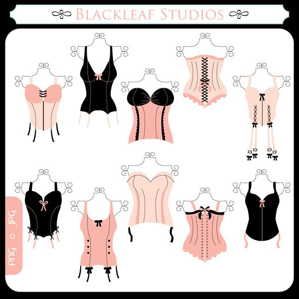 Corsets  Blackleaf Design    Mygrafico