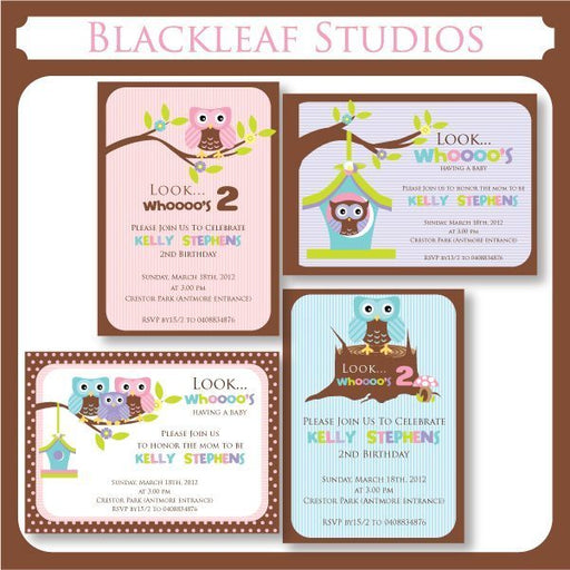 Cute Owl Invitations  Blackleaf Design    Mygrafico