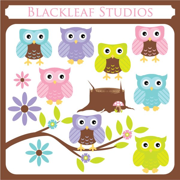 Cute Owls  Blackleaf Design    Mygrafico