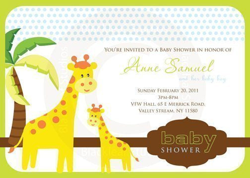 Cute Animals Invitations  Blackleaf Design    Mygrafico