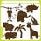 Jungle Animals Silhouettes Vector Clipart  Blackleaf Design    Mygrafico