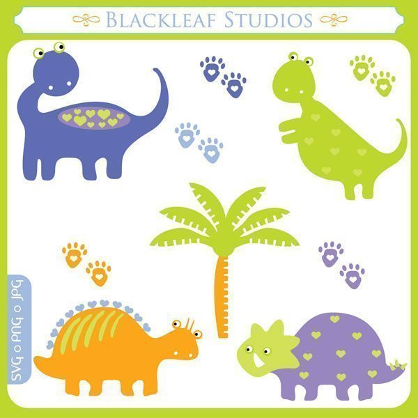 Dinos SVG Set  Blackleaf Design    Mygrafico