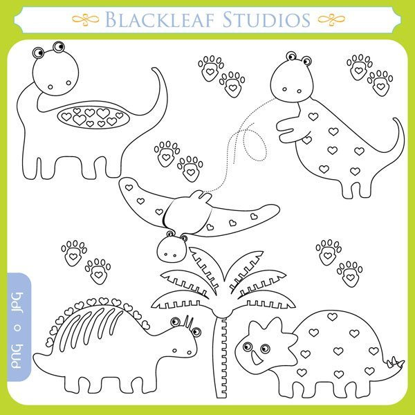 Dino Stamps  Blackleaf Design    Mygrafico