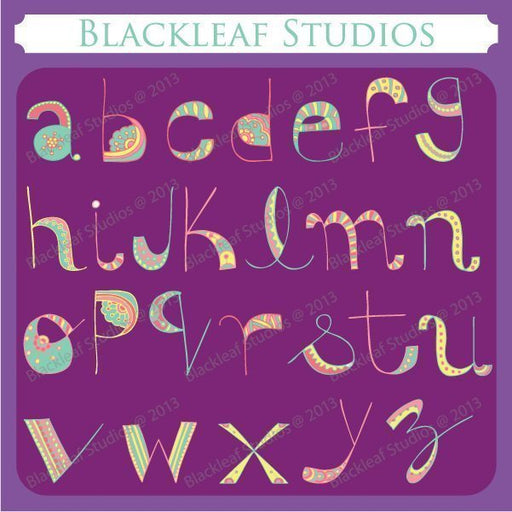 Doodle Alphabets Lowercase  Blackleaf Design    Mygrafico