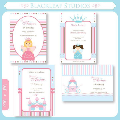 Fairy Princess Invitations  Blackleaf Design    Mygrafico