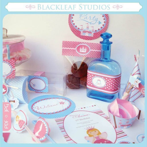 Fairy Princess Printable Party Set  Blackleaf Design    Mygrafico