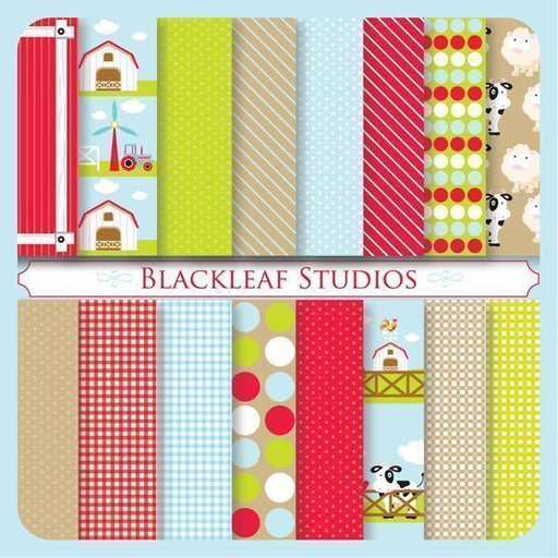 Farm Barnyard Patterns  Blackleaf Design    Mygrafico