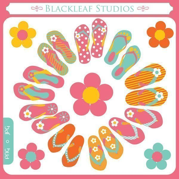Flip Flops  Blackleaf Design    Mygrafico