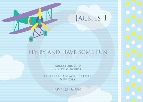 Flying High Invitations  Blackleaf Design    Mygrafico