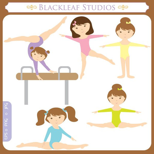 Little Girl Gymnast  Blackleaf Design    Mygrafico