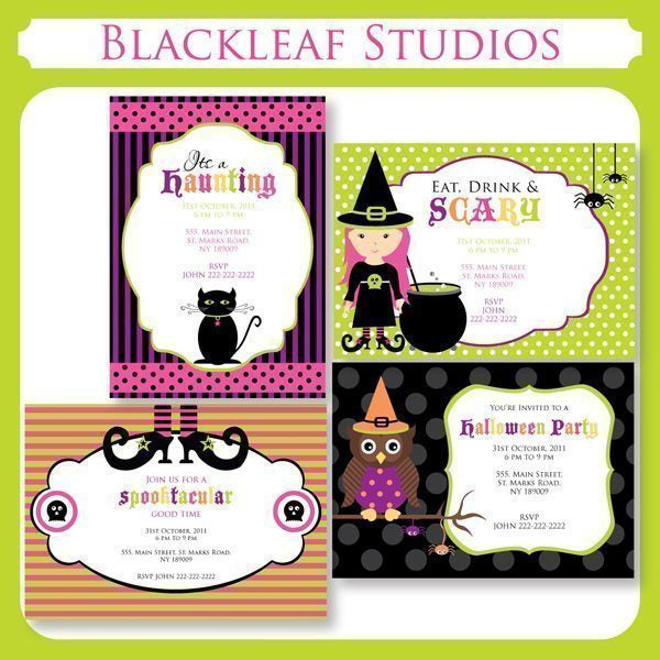 Halloween Invitations  Blackleaf Design    Mygrafico
