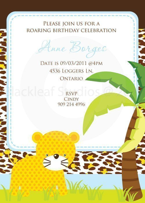 Jungle Fun Invitations  Blackleaf Design    Mygrafico