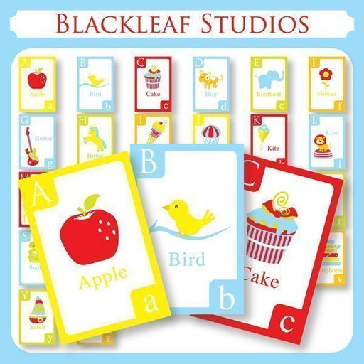 Alphabet Flash Cards  Blackleaf Design    Mygrafico