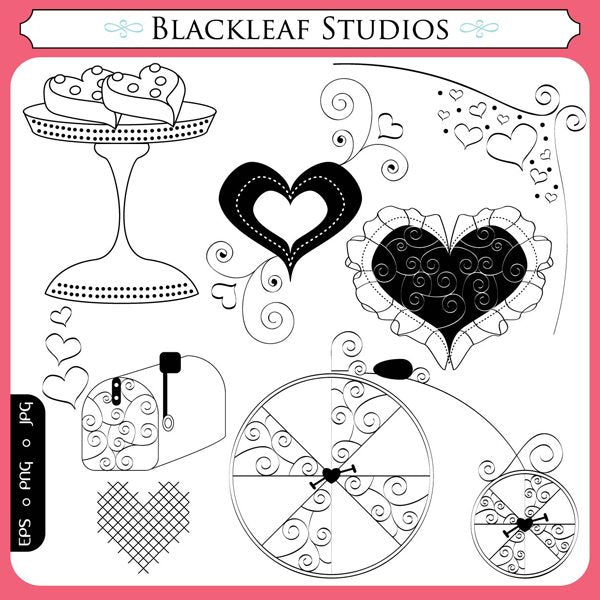 Valentine Love Digital Stamps  Blackleaf Design    Mygrafico