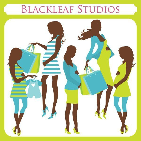 Chic Mom to Be Shopping  Blackleaf Design    Mygrafico