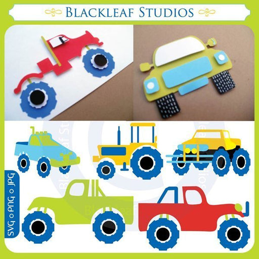 Monster Trucks SVG Set  Blackleaf Design    Mygrafico