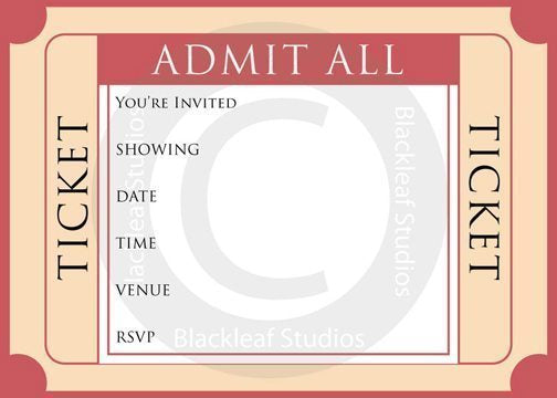 Movie Night Invitations  Blackleaf Design    Mygrafico
