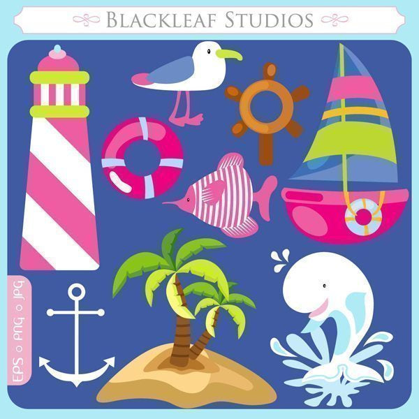 Nautical Fun Clipart  Blackleaf Design    Mygrafico