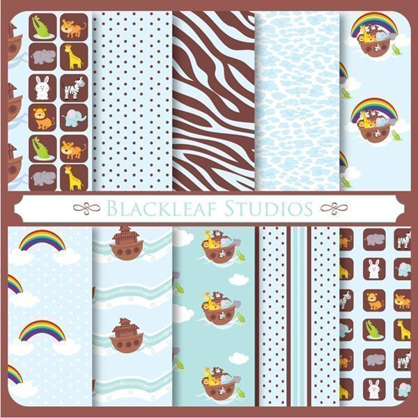 Noah's Ark Patterns  Blackleaf Design    Mygrafico