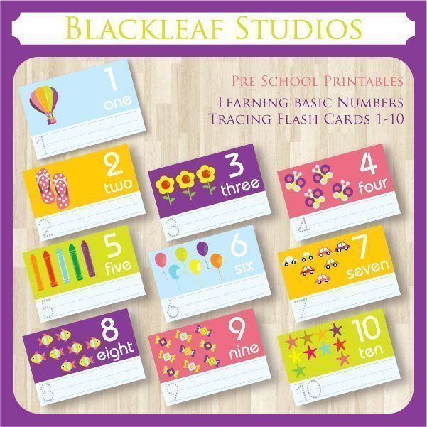 Count and Trace Numbers Pattern Cards  Blackleaf Design    Mygrafico