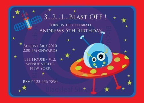 Out of Space Invitations  Blackleaf Design    Mygrafico