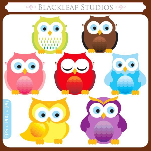 Fun Owls  Blackleaf Design    Mygrafico
