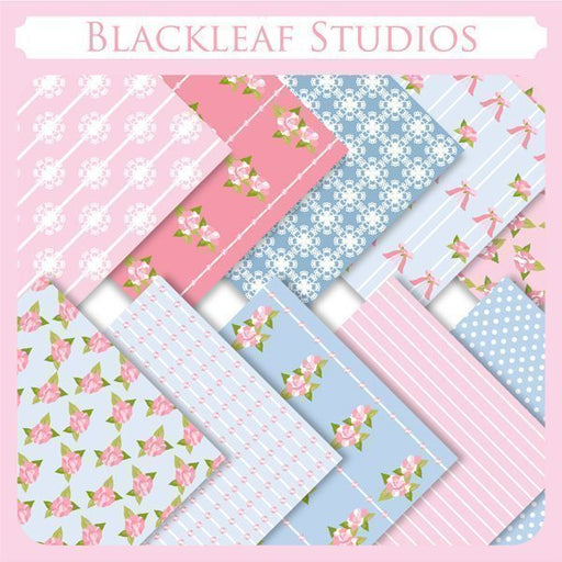 Pink and Ruffled Papers  Blackleaf Design    Mygrafico