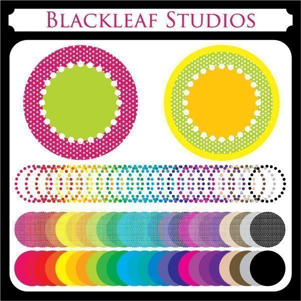 Polka Dot Frames  Blackleaf Design    Mygrafico