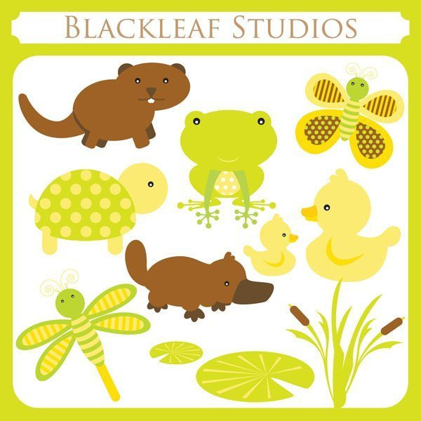 Cute Pond Animals  Blackleaf Design    Mygrafico