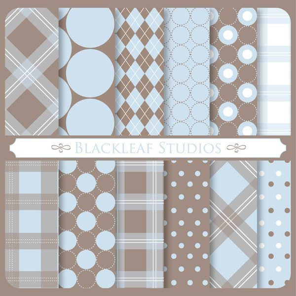 Pure Charm Patterns Digital Papers & Backgrounds Blackleaf Design    Mygrafico