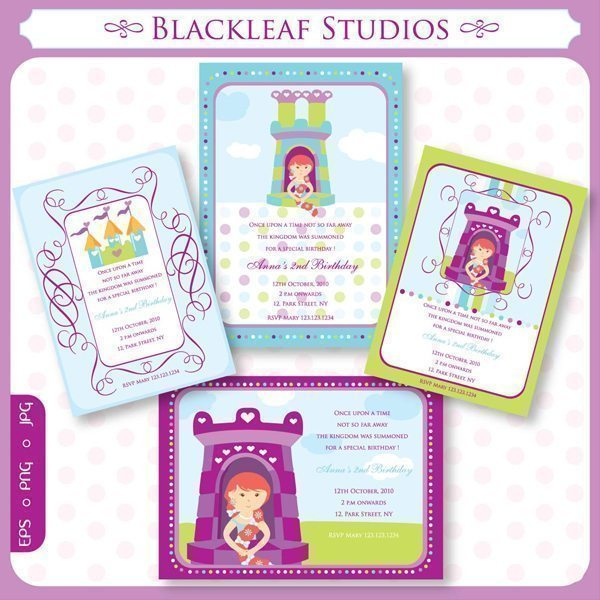 Rapunzel Invitations  Blackleaf Design    Mygrafico