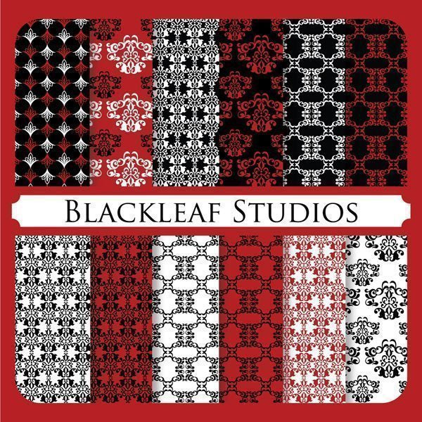 Red Black Luxe Papers Digital Papers & Backgrounds Blackleaf Design    Mygrafico