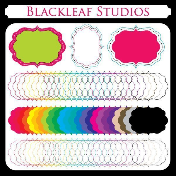 Fancy Scallop Frames  Blackleaf Design    Mygrafico