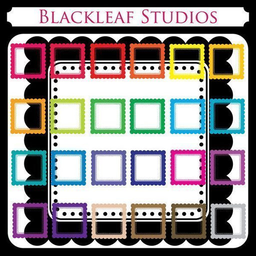 Scalloped Square Frames  Blackleaf Design    Mygrafico
