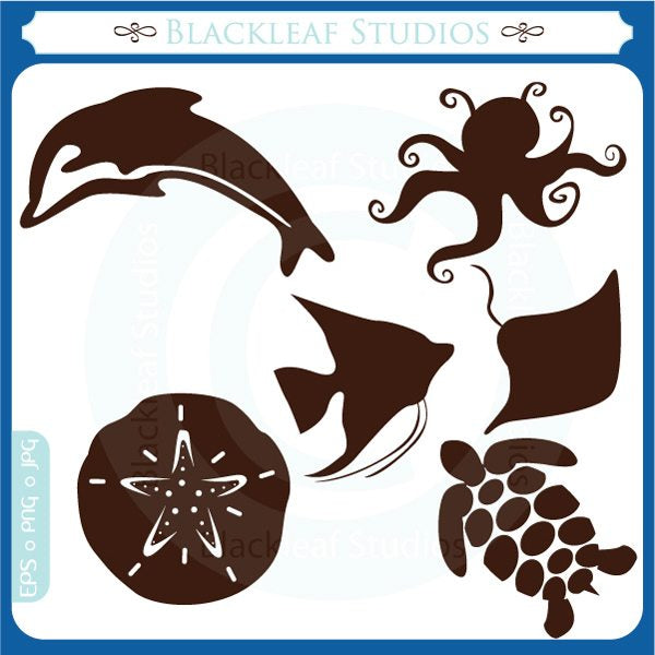 At the Sea Silhouettes  Blackleaf Design    Mygrafico