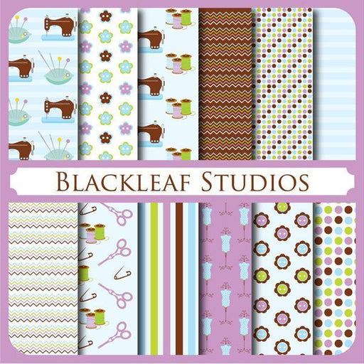 Sewing Craft Papers  Blackleaf Design    Mygrafico
