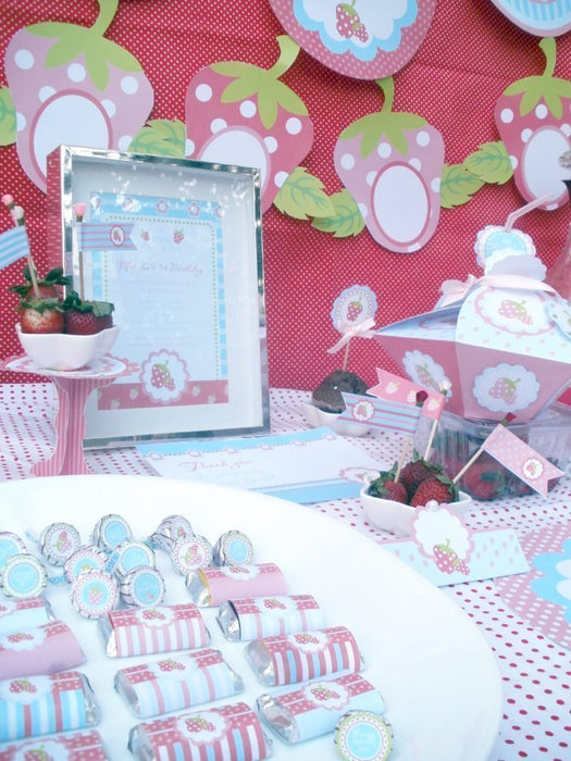 Berry Sweet Party Printables Set Party Printable Templates Blackleaf Design    Mygrafico