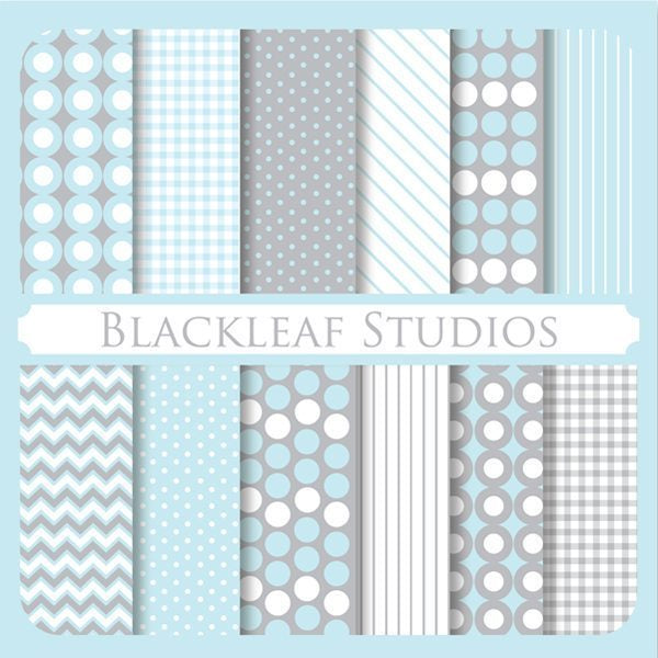 Stylish Essentials Baby Blue Papers  Blackleaf Design    Mygrafico