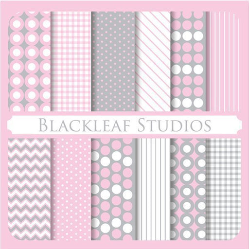 Stylish Essentials Baby Pink Papers  Blackleaf Design    Mygrafico