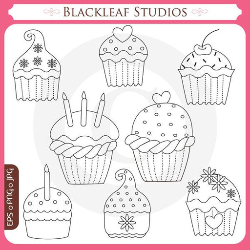 Sweet Cupcake Stamps