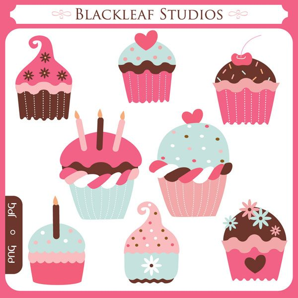 Sweet Cupcakes  Blackleaf Design    Mygrafico