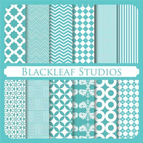 Aqua Papers Digital Papers & Backgrounds Blackleaf Design    Mygrafico
