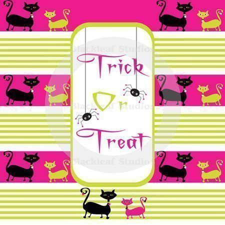 Trick Or Treat Patterns Digital Papers & Backgrounds Blackleaf Design    Mygrafico